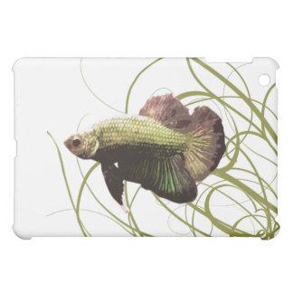 Gold Betta Siamese Fighting Fish iPad Mini Cover