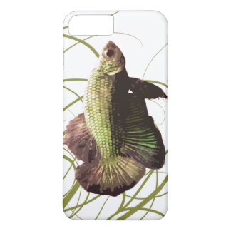 Gold Betta Siamese Fighting Fish iPhone 7 Plus Case