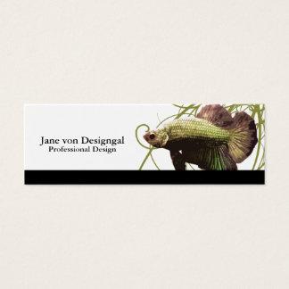 Gold Betta Siamese Fighting Fish Mini Business Card