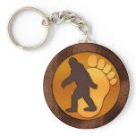 Gold Bigfoot Keychain