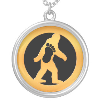 Gold Bigfoot Silver Plated Necklace
