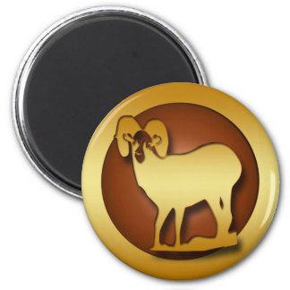 GOLD BIGHORN RAM MAGNET