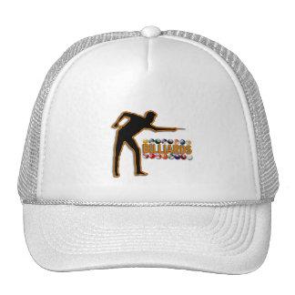 GOLD BILLIARDS PLAYER MESH HATS