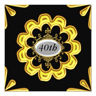 Gold Birthday Party Invitations Gold