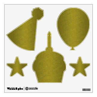 Gold Birthday Wall Decal