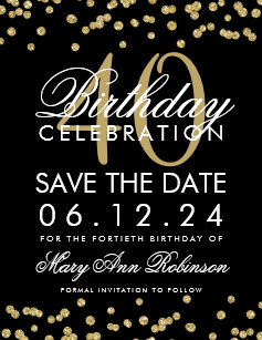 birthday party save the date cards zazzle