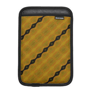 Gold Black and Olive Striped Modern Abstract iPad Mini Sleeve
