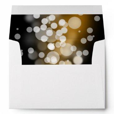 partridgelanestudio Gold Black and Silver Sparkles with Return Address Envelope