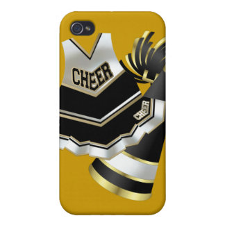 Gold Black and White Cheerleader iPhone 4/4S Cases