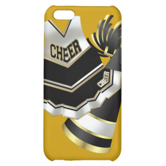 Gold Black and White Cheerleader Cover For iPhone 5C