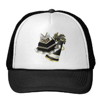 Gold Black and White Cheerleader Trucker Hat