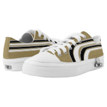 Gold Black and White Sojourn Max Low-Top Sneakers