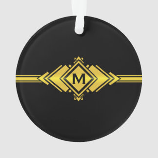 Gold & Black Art Deco Belt Monogram