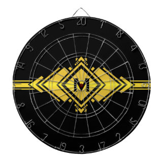 Gold & Black Art Deco Belt Monogram Dartboards
