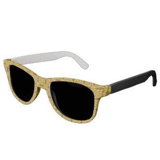 Gold Black Baroque Design Sunglasses