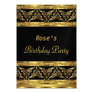 Gold Black Birthday Party Invitation