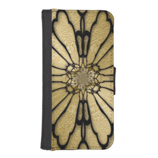 Gold Black Butterfly Wings Optical Illusion iPhone SE/5/5s Wallet
