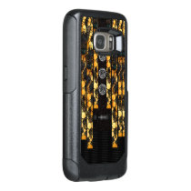 Gold Black Cheetah Bling OtterBox Samsung Galaxy S7 Case
