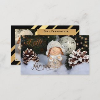 Gold Black Christmas Gift Certificate Template