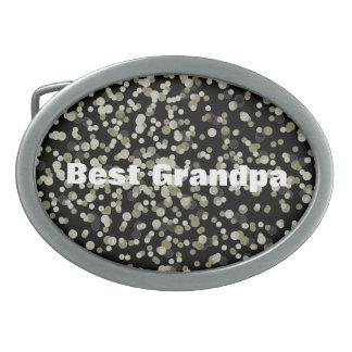 Gold Black Confetti Dots Belt Buckle