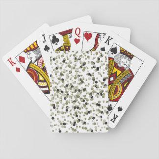 Gold Black Confetti Dots Poker Cards