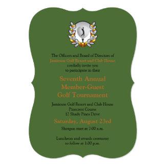 """Gold Black Corporate Golf Tournament Invitation 5"""" X 7"""" Invitation Card"""