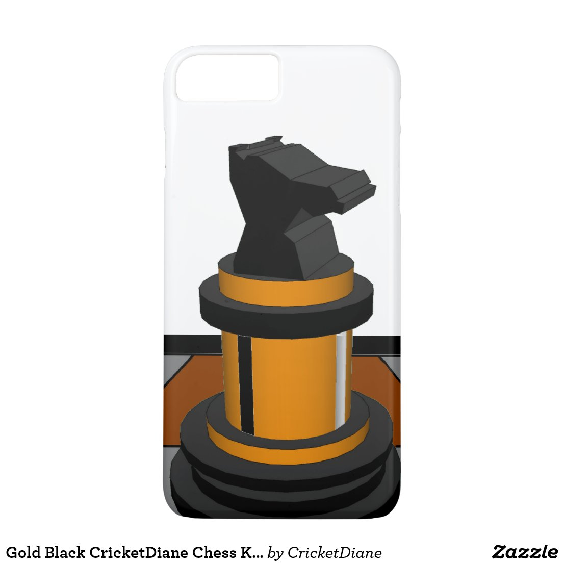 Gold Black CricketDiane Chess Knight Geeky Nerd iPhone 8 Plus/7 Plus Case