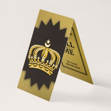 Professional Business Gold & Black Crown Business Card