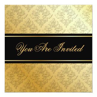 Gold & Black Damask Invitation