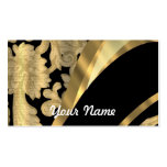 Gold & black damask swirl Double-Sided standard business cards (Pack of 100)