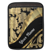 Gold & black damask swirl sleeve for iPads