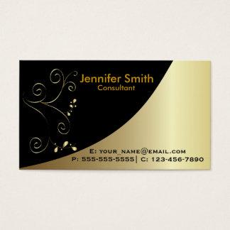 Gold Black Elegant Business Cards
