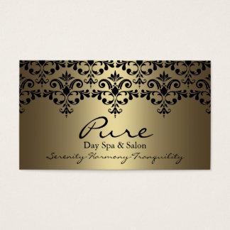 Gold & Black Elegant Damask Business Card
