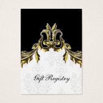 gold black Gift registry  Cards