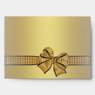 Gold & Black Gold Bow Envelopes
