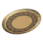 Gold & Black Greek Design Melamine Plate