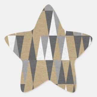 Gold Black Grey Gray Black Tribal Aztec Phone Case Star Sticker