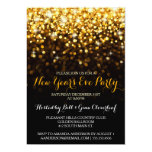 new year's eve party invitation, gold