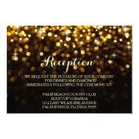 Gold Black Hollywood Glitz Glam Reception Card (<em>$1.96</em>)