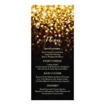 Gold Black Hollywood Glitz Glam Wedding Menu