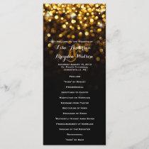 Gold Black Hollywood Glitz Glam Wedding Program
