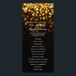 """Gold Black Hollywood Glitz Glam Wedding Program<br><div class=""""desc"""">This dazzling wedding program is sure to wow your guests. Features bright gold sparkling light orbs that fade to a subtle black background. Perfect for an elegant,  classy wedding.</div>"""