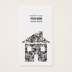 Gold & Black House Real Estate Photo Business Card at Zazzle