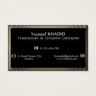 Gold & Black Illusion Business Card