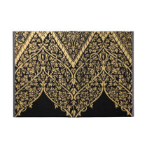 Gold Black Indian Motif Vintage Design Pattern iPad Mini Case