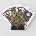 Gold Black Indian Motif Vintage Design Pattern Poker Cards