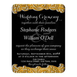 Gold & Black Irish Wedding Invitation
