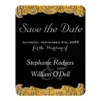 Gold & Black Irish Wedding Save the Date Notice Card
