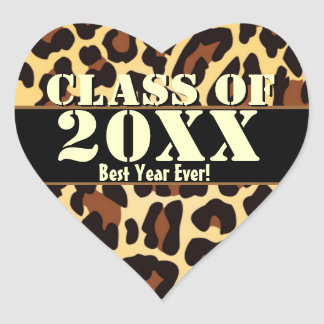 Gold Black Leopard Best Year Ever Graduation Class Stickers