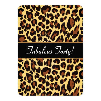 Gold Black Leopard Fabulous 40 Birthday A26 Card